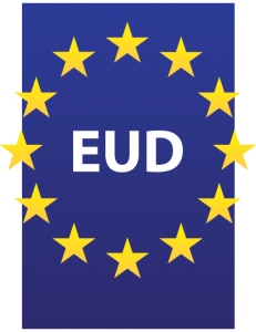European Union of the deaf logo