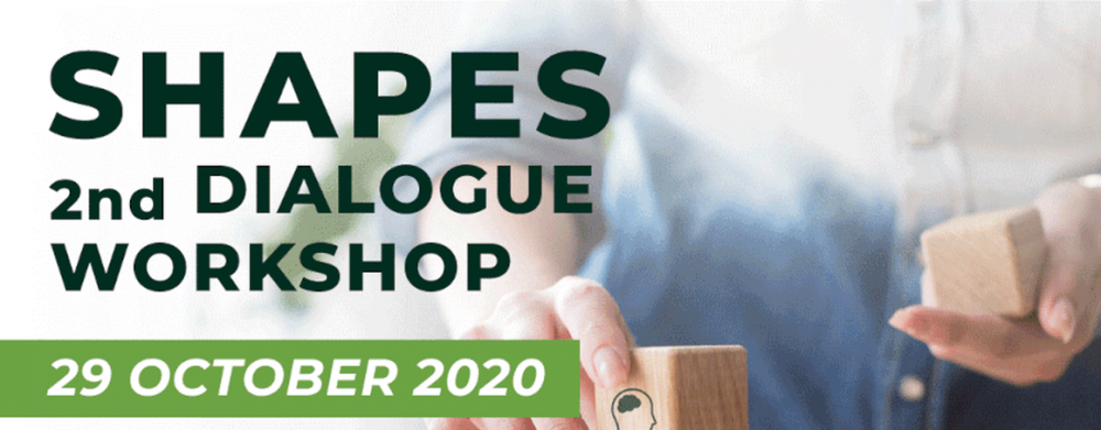 SHAPES 2nd Dialogue Workshop poster 29th October 2020