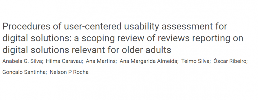 """Title image of paper: """"Procedures of user-centered usability assessment for digital solutions: a scoping review of reviews reporting on digital solutions relevant for older adults"""""""
