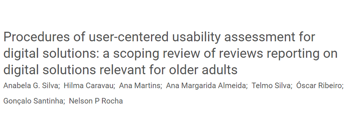 "Title image of paper: ""Procedures of user-centered usability assessment for digital solutions: a scoping review of reviews reporting on digital solutions relevant for older adults"""