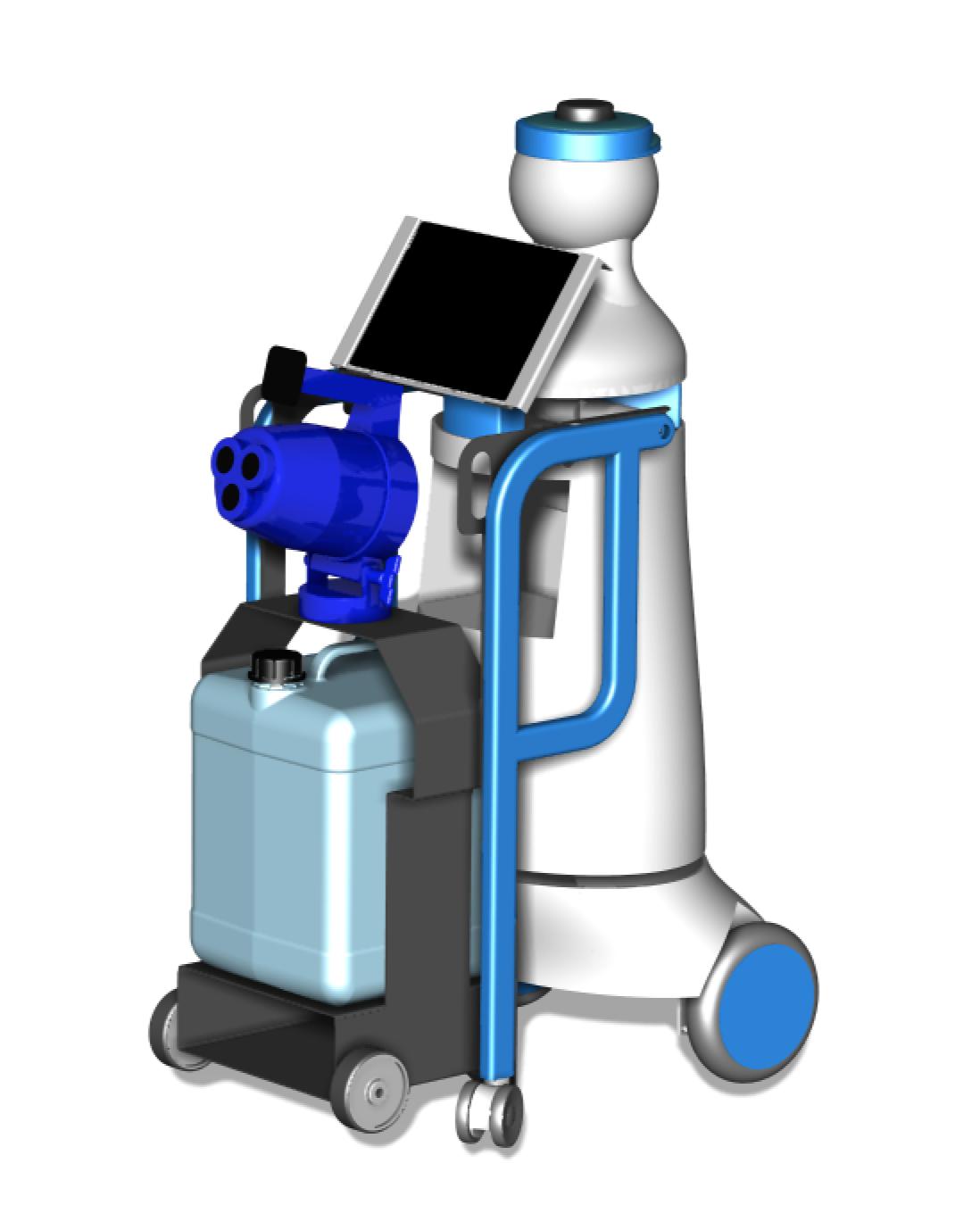 Chemical-disinfection: a chemical disinfection module added to the Kompaï robot