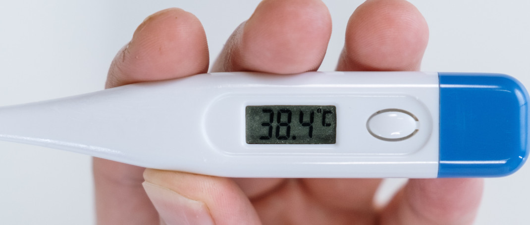 Close up image of thermometer.