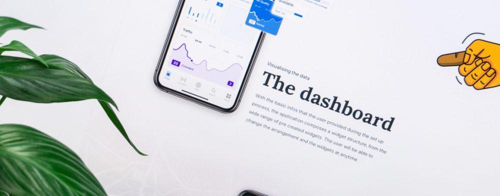 SHAPES app dashboard showing data visualization