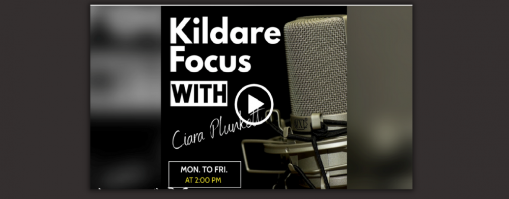Picture of the radio show poster. Kildare in Focus with Ciara Plunkett