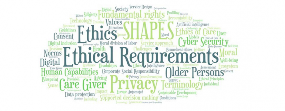 Word cloud composed by the most frequently used words in the deliverable D8.14 (e.g., ethical requirements, privacy, fundamental rights, data protection, capabilities)
