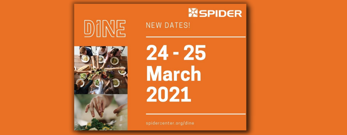 Orange poster with date of event (24-25 March 2021) written in the centre.