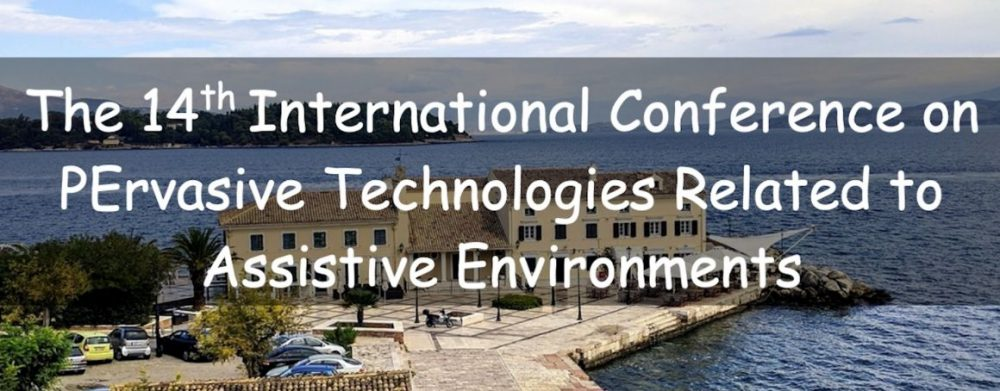 PETRA2021 conference website banner: 14th PErvasive Technologies Related to Assistive Environments